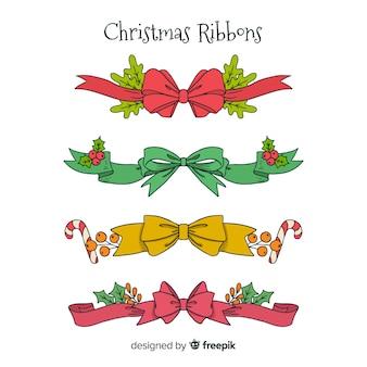 Set nastri natalizi