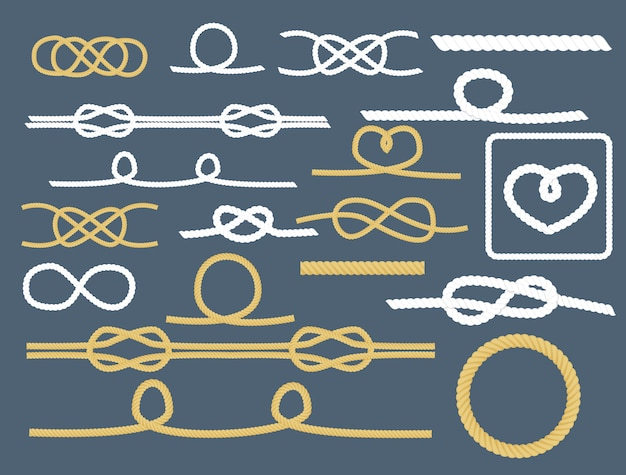 Set nautico decorativo collezione corda nodi