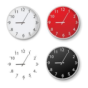 Set orologio isolato isolato