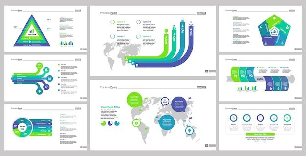 Set otto modelli di diapositiva di logistica