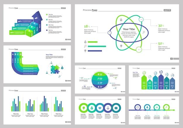 Set otto modelli di diapositive di gestione