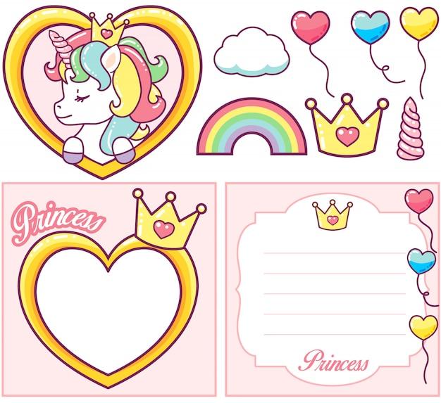 Set per la festa della principessa dell'unicorno