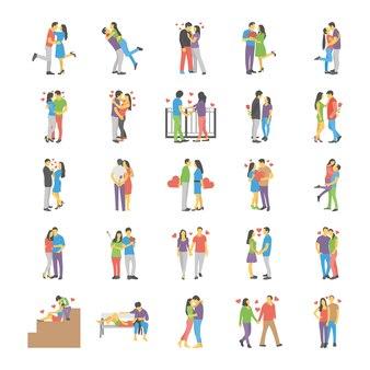 Set piatto coppie romantiche