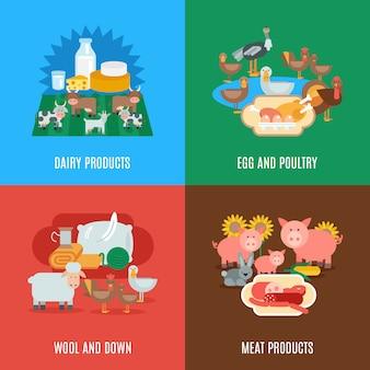 Set piatto di animali domestici