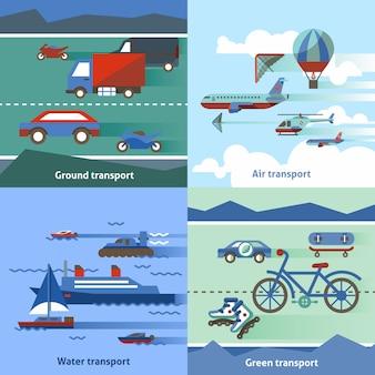 Set piatto di trasporto