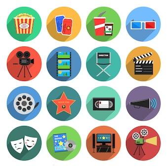 Set piatto icone di film