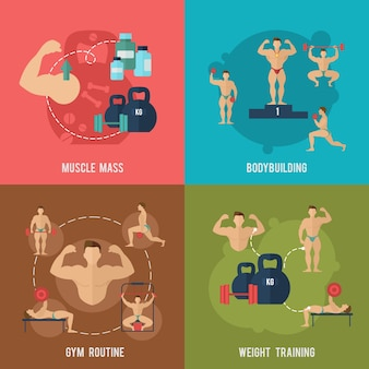 Set piatto per bodybuilding