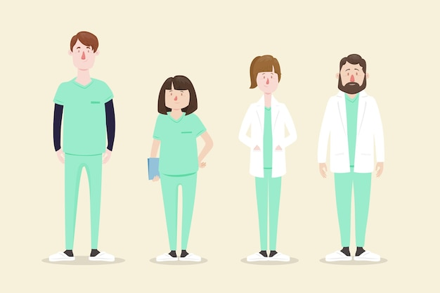 Set professionale per la salute