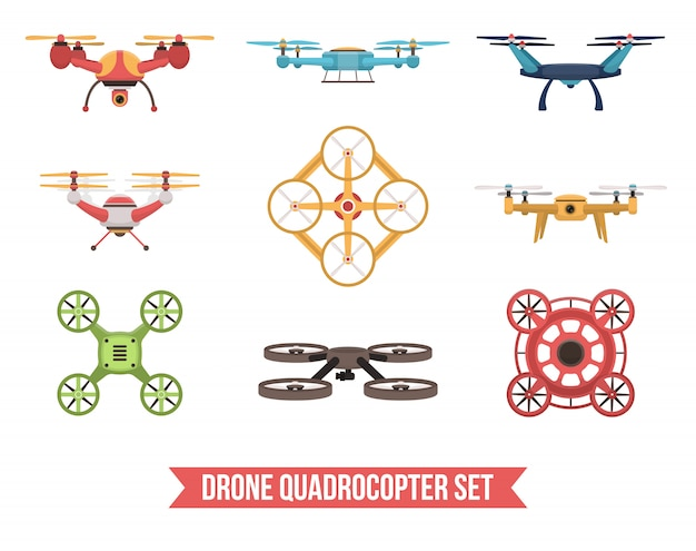 Set quadrocopter drone
