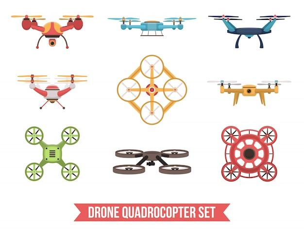 Set quadrocopter drone