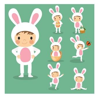 Set ragazza costume da coniglio
