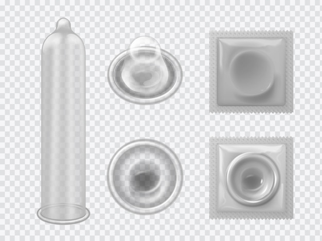 Set realistico del preservativo