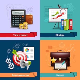 Set realistico di affari
