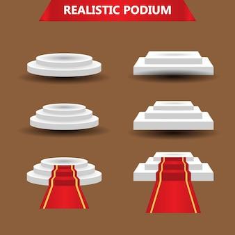 Set realistico di podio