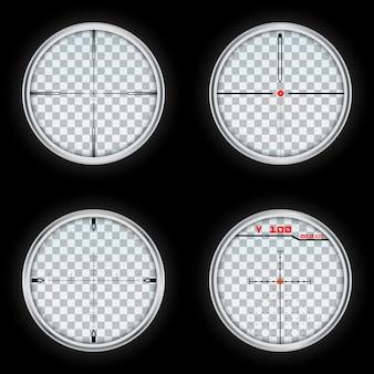 Set realistico di vettore mirino