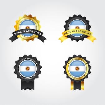 Set realizzato con etichette argentina