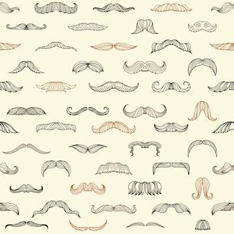 Set senza cuciture con baffi di uomini