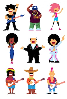 Set silhouette cantanti
