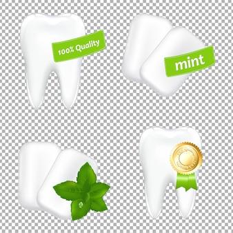 Set stomatologic gradient mesh, illustrazione