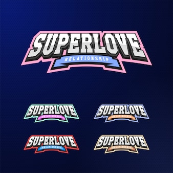 Set tipografia emblema dello sport.