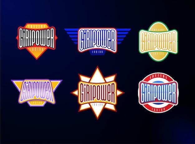 Set tipografia emblema dello sport