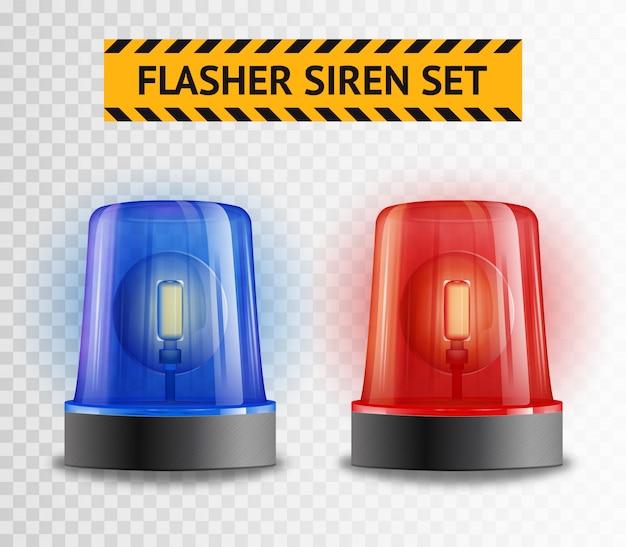 Set trasparente di lampeggiatore a sirena