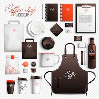 Set trasparente per caffetteria