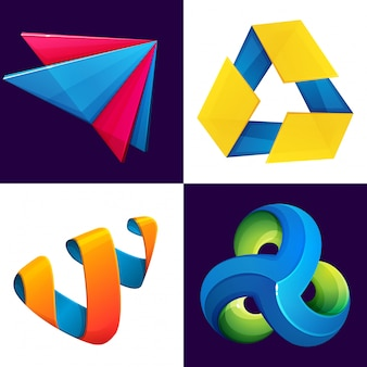 Set triangolo astratto