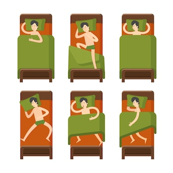 Set uomo addormentato