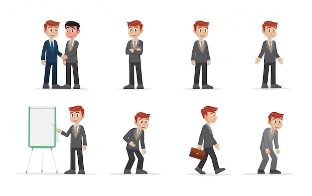 Set uomo d'affari.