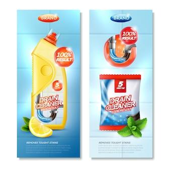 Set verticale detergente di scarico