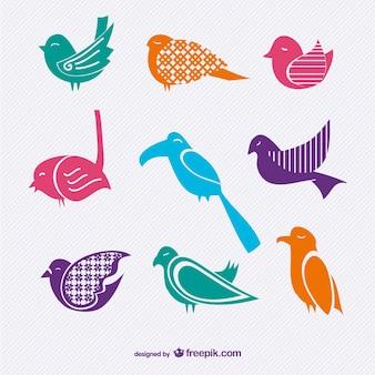 Set vettore uccelli