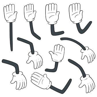Set vettoriale del braccio dei cartoni animati