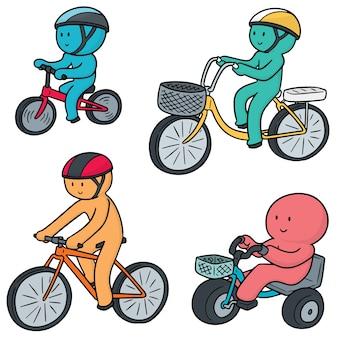 Set vettoriale del ciclista