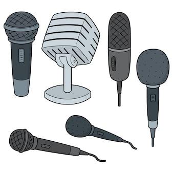 Set vettoriale del microfono