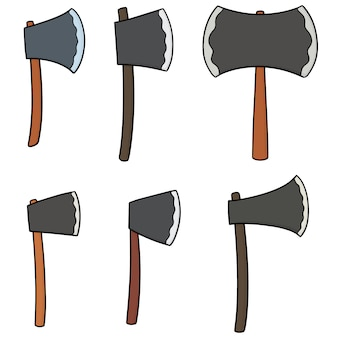 Set vettoriale di ascia