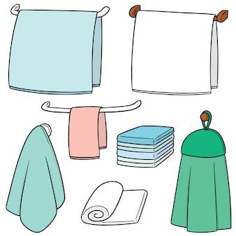Set vettoriale di asciugamani