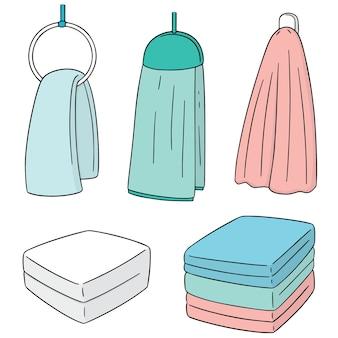 Set vettoriale di asciugamano