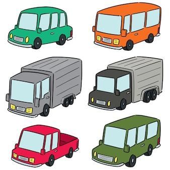 Set vettoriale di automobili