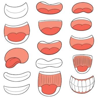 Set vettoriale di bocca