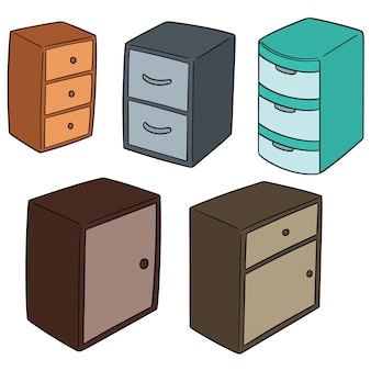 Set vettoriale di cassetto