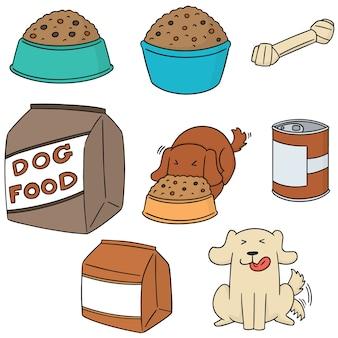Set vettoriale di cibo per cani