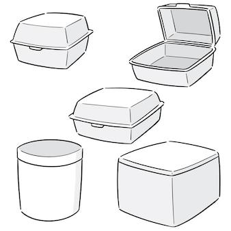 Set vettoriale di contenitore di schiuma