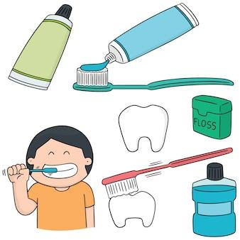 Set vettoriale di cura orale