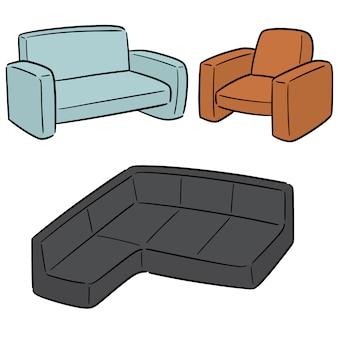 Set vettoriale di divano
