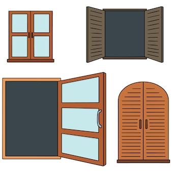 Set vettoriale di finestra