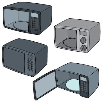 Set vettoriale di forno a microonde