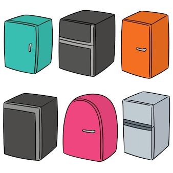 Set vettoriale di frigorifero