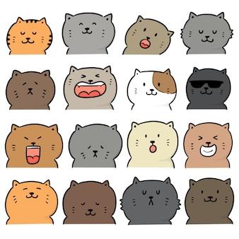 Set vettoriale di gatto