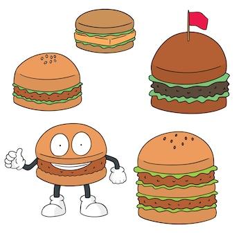 Set vettoriale di hamburger